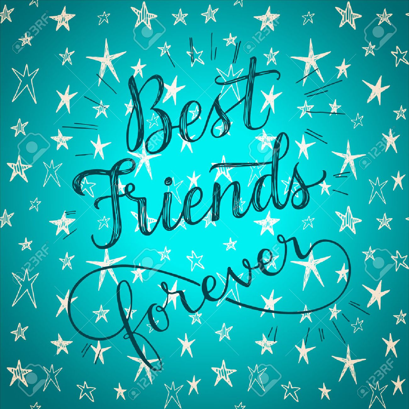 best friends forever hand