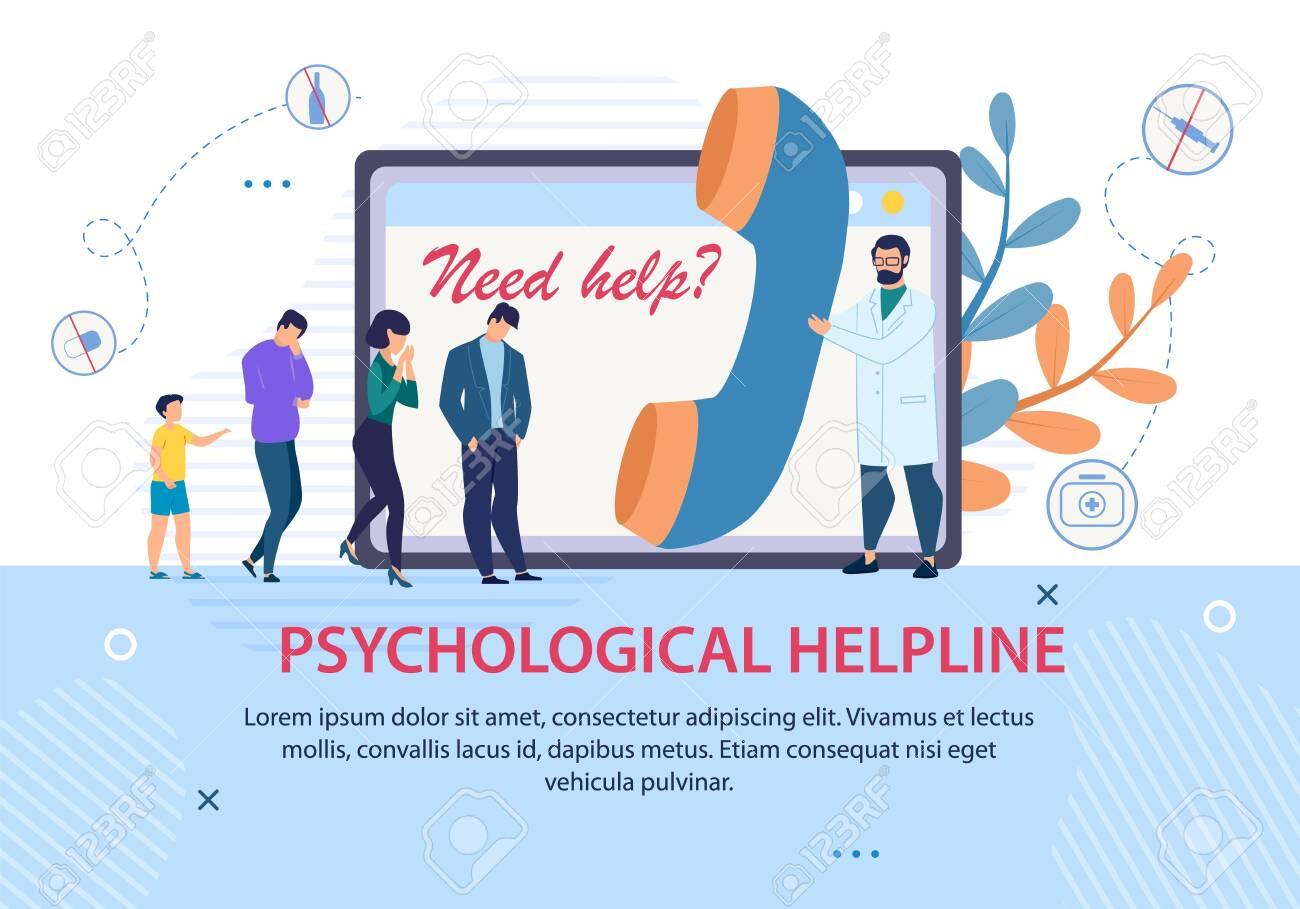psychological helpline promotion advertising text banner doctor