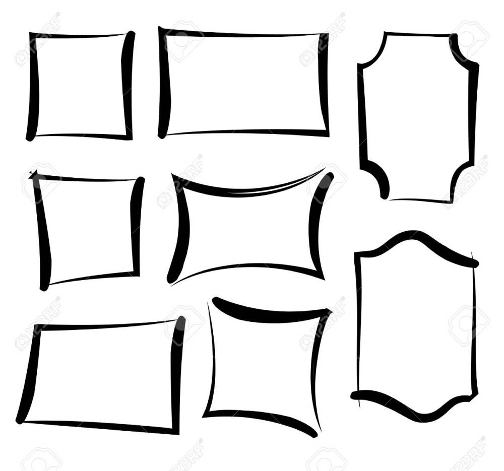 medium resolution of vector vector painted frames set of brushed grunge stylish frames hand drawn border decor collection