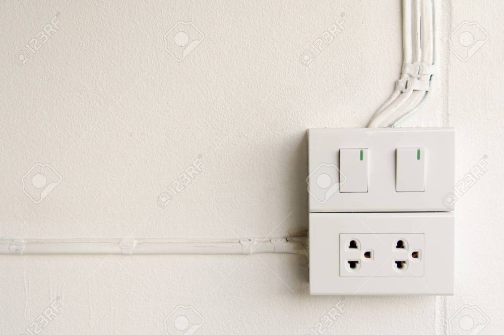 medium resolution of stock photo white light switch and outlet on wall turn on or turn off the lights copy space for text