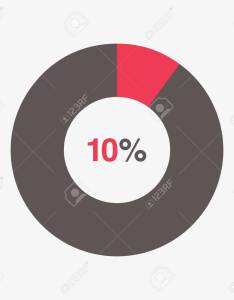 Icon red and black chart percent pie vector stock also royalty free rh rf