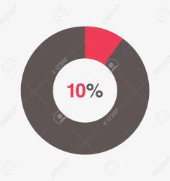 icon red and black chart 10 percent pie chart vector stock vector 66669426 [ 1300 x 1300 Pixel ]