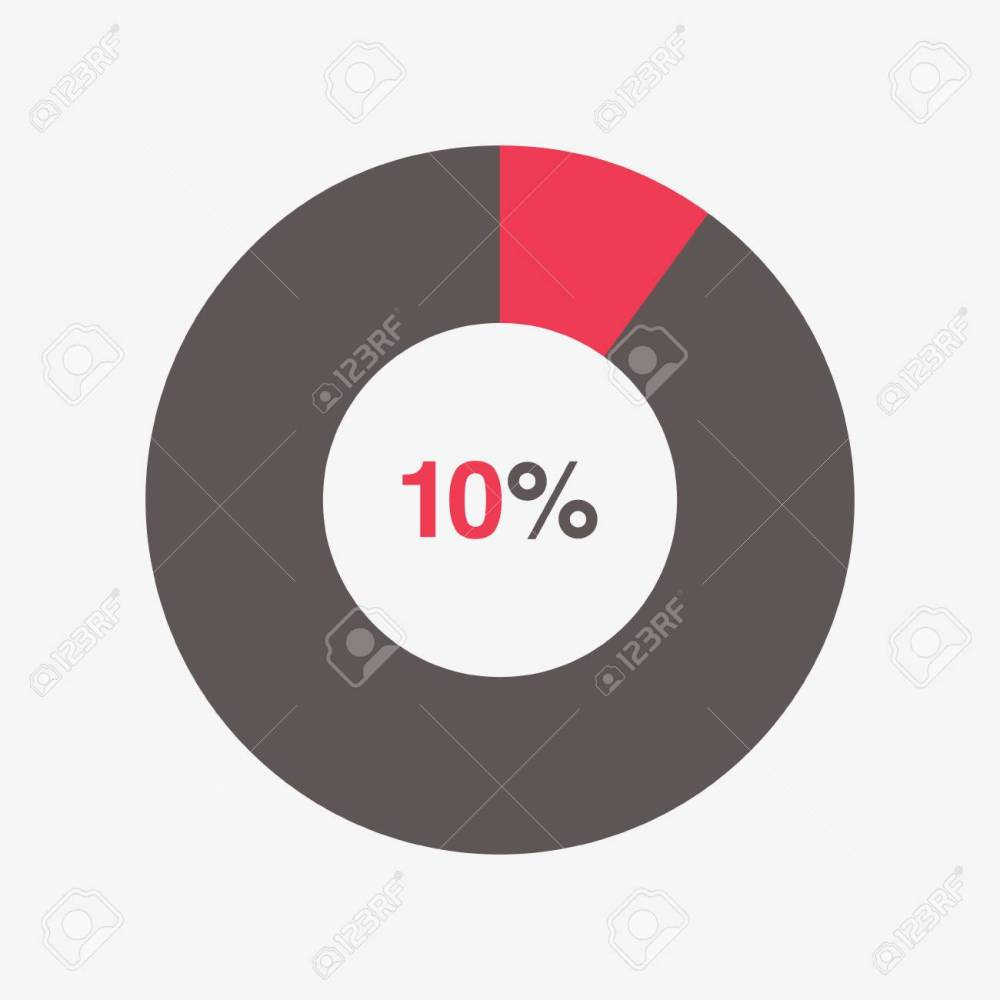 medium resolution of icon red and black chart 10 percent pie chart vector stock vector 66669426