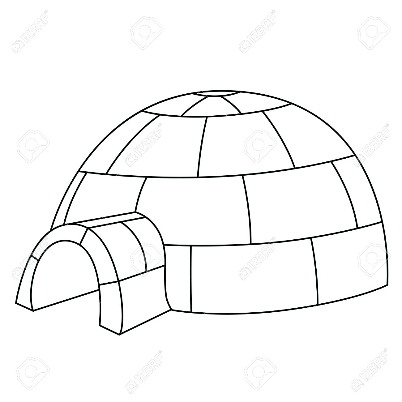 hight resolution of black outline vector igloo on white background stock vector 25307095