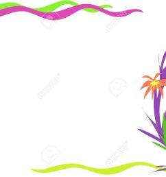 corner frame of desert flowers stock vector 4149560 [ 1300 x 962 Pixel ]