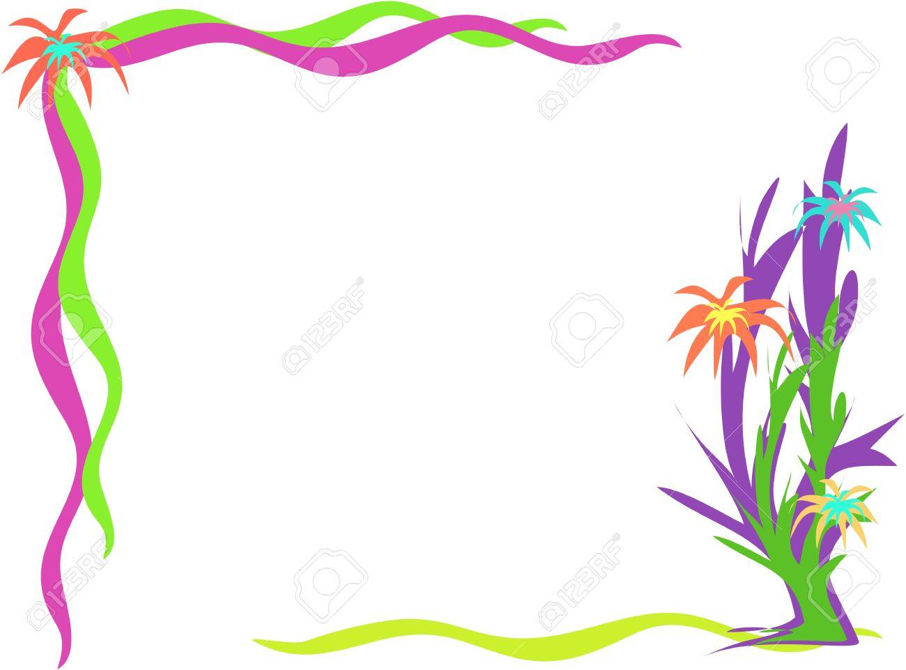hight resolution of corner frame of desert flowers stock vector 4149560