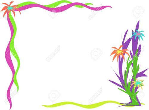 small resolution of corner frame of desert flowers stock vector 4149560