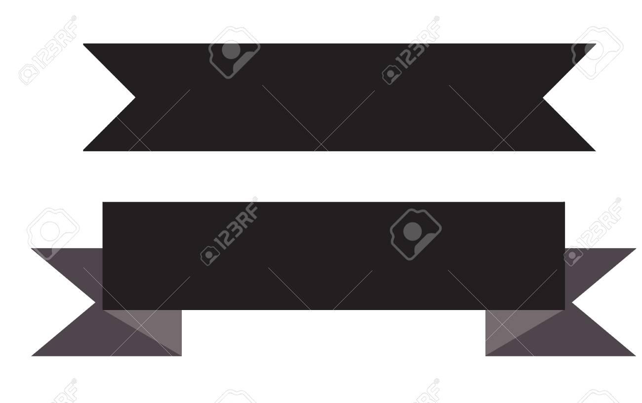 black ribbon banner on