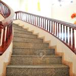 Marble Stairs With Wooden Railing Stock Photo Picture And Royalty Free Image Image 15712958