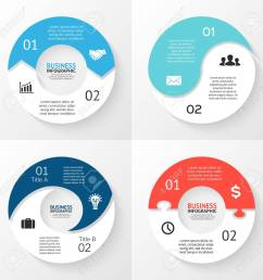 template for cycle diagram graph presentation and round chart business concept with 2 options parts steps or processes abstract background  [ 1300 x 1300 Pixel ]