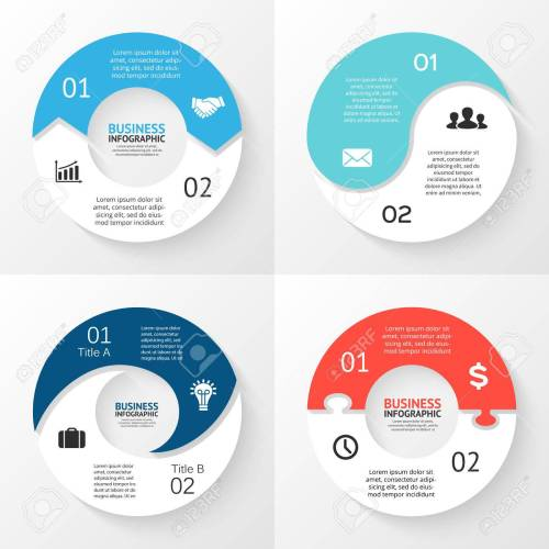 small resolution of template for cycle diagram graph presentation and round chart business concept with 2 options parts steps or processes abstract background