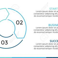 3 Arrow Circle Diagram Polk Audio Subwoofer Wiring Vector Linear Arrows Infographic Cycle Graph Stock Photo Presentation Pie Chart Business Concept With Options Parts Steps