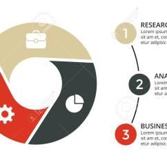 3 Arrow Circle Diagram Slug Anatomy Vector Arrows Infographic Cycle Geometric Graph Presentation Chart Business Concept With Options Parts Steps Processes