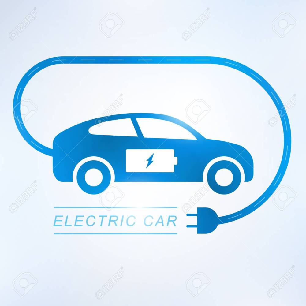 medium resolution of electric car and electrical charging station symbol icon vector illustration stock vector 95059492