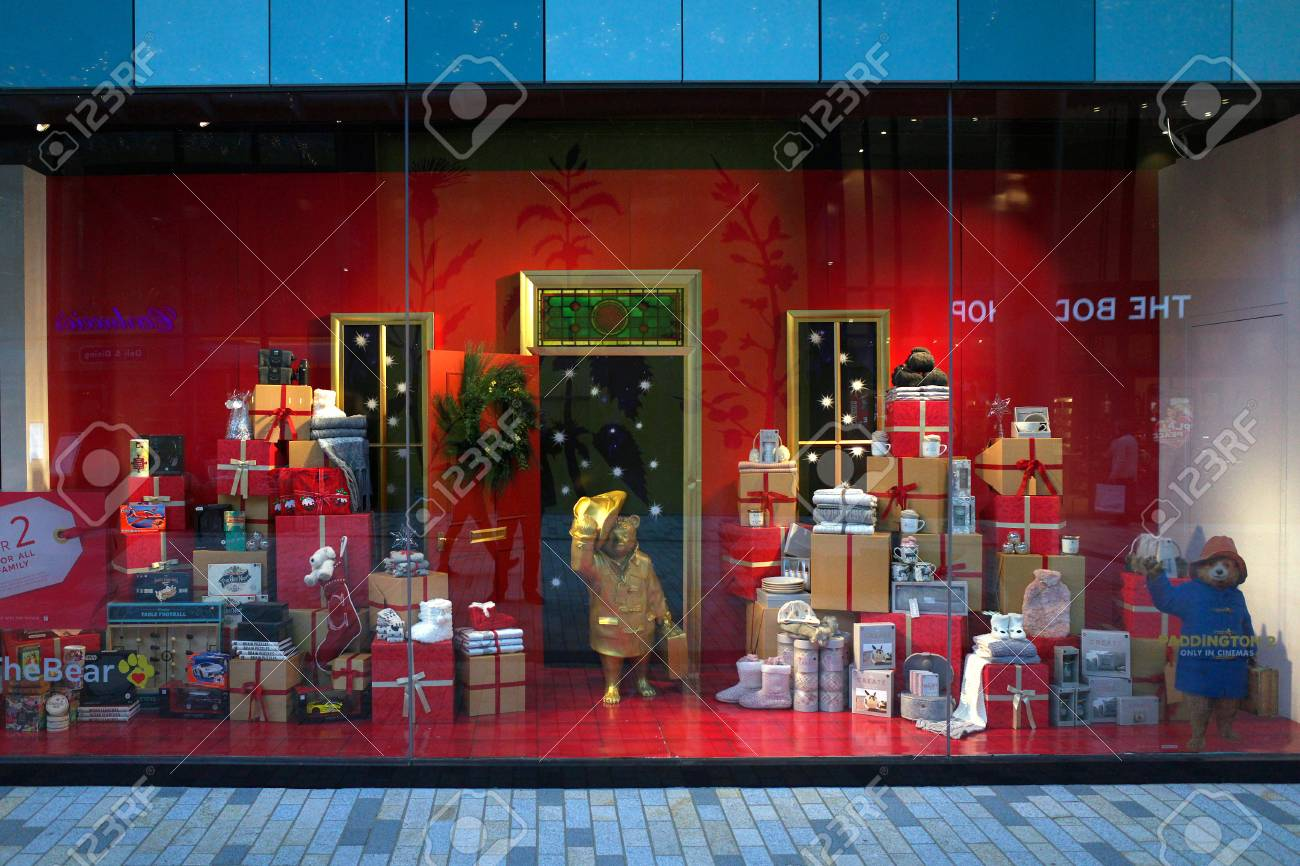 Bracknell England Dec 05 2017 Christmas Window Display Of Stock Photo Picture And Royalty Free Image Image 91157756