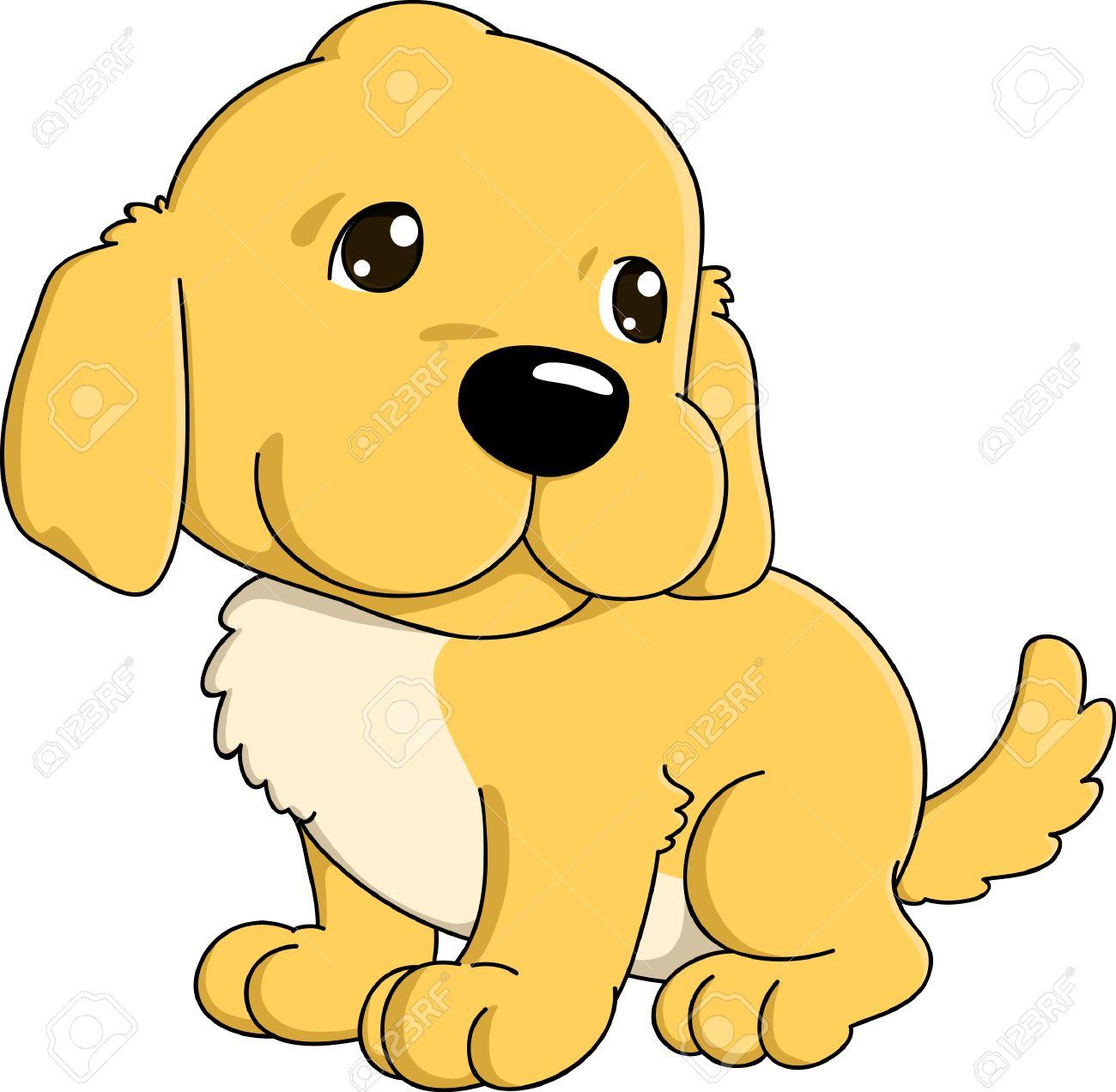 cute cartoon of golden