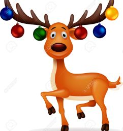 deer with christmas ball illustration [ 1147 x 1300 Pixel ]