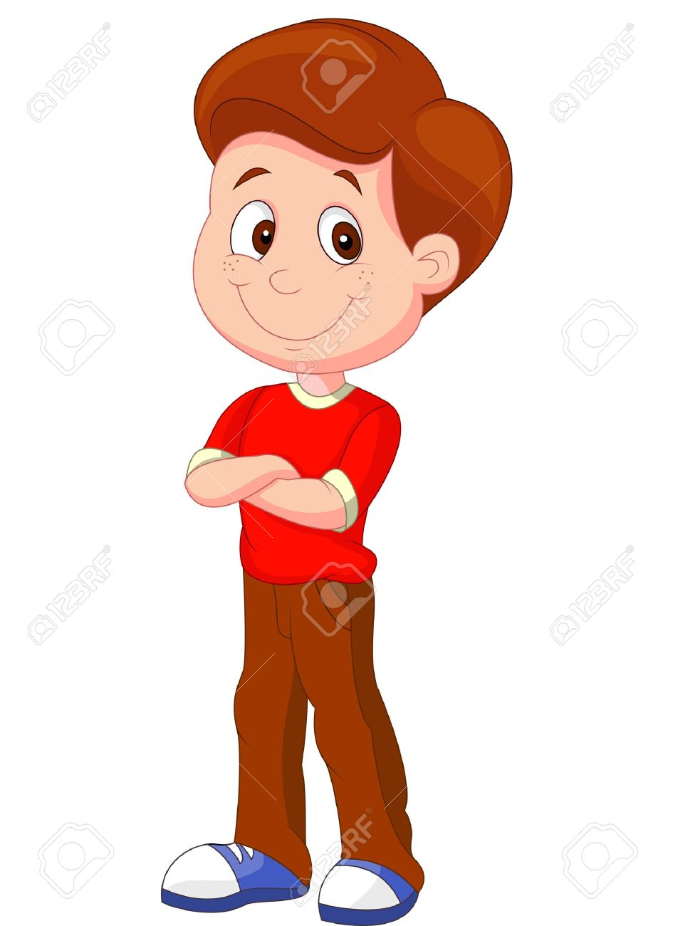 Boy Cartoon Images : cartoon, images, Cartoon, Standing, Royalty, Cliparts,, Vectors,, Stock, Illustration., Image, 20754296.