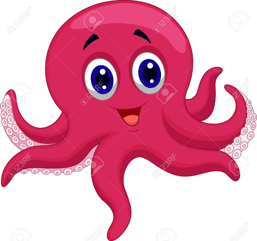 medium resolution of octopus cartoon stock vector 23517215