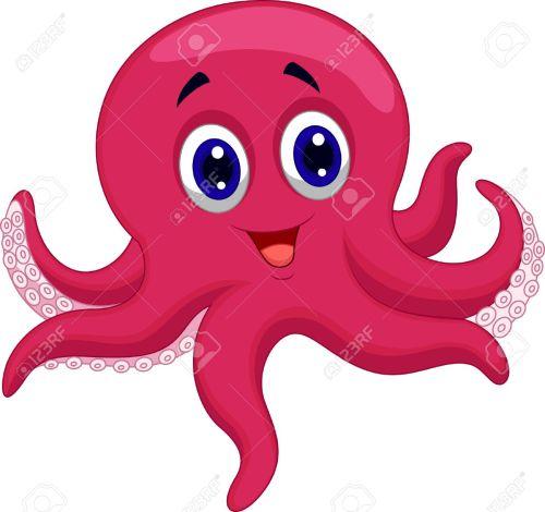 small resolution of octopus cartoon stock vector 23517215
