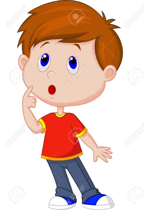 small resolution of cute boy cartoon thinking stock vector 23848473
