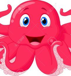 cute octopus cartoon stock vector 24469388 [ 1300 x 870 Pixel ]