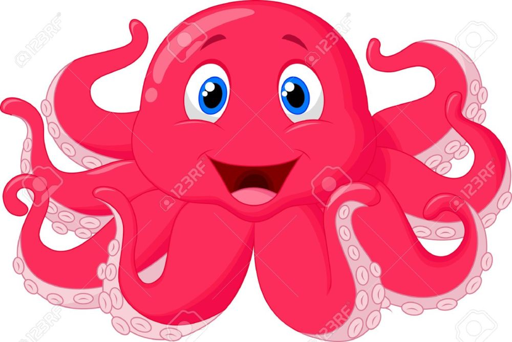 medium resolution of cute octopus cartoon stock vector 24469388