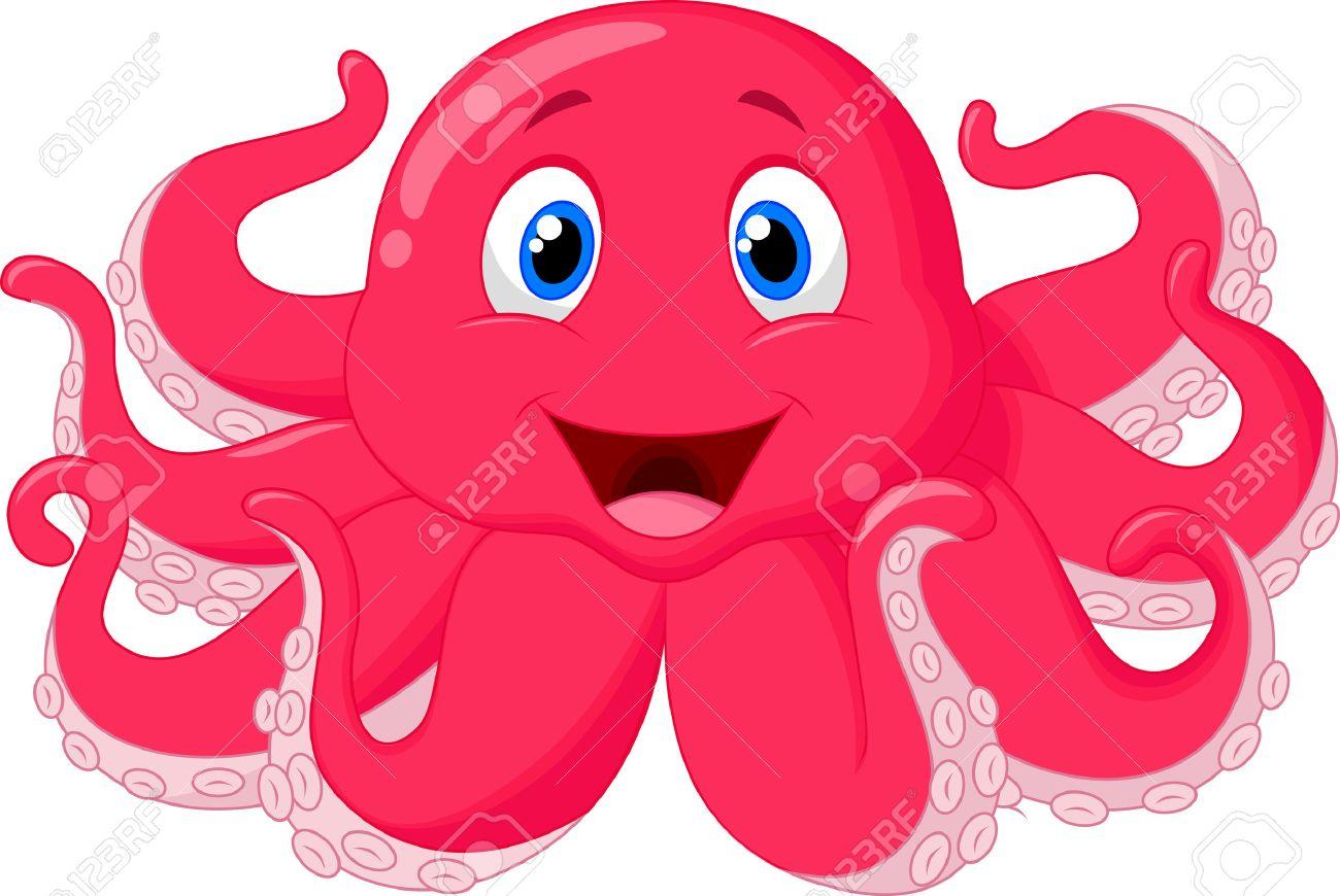 hight resolution of cute octopus cartoon stock vector 24469388
