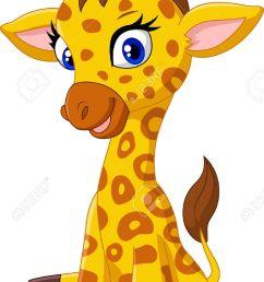 cartoon baby giraffe sitting [ 846 x 1300 Pixel ]