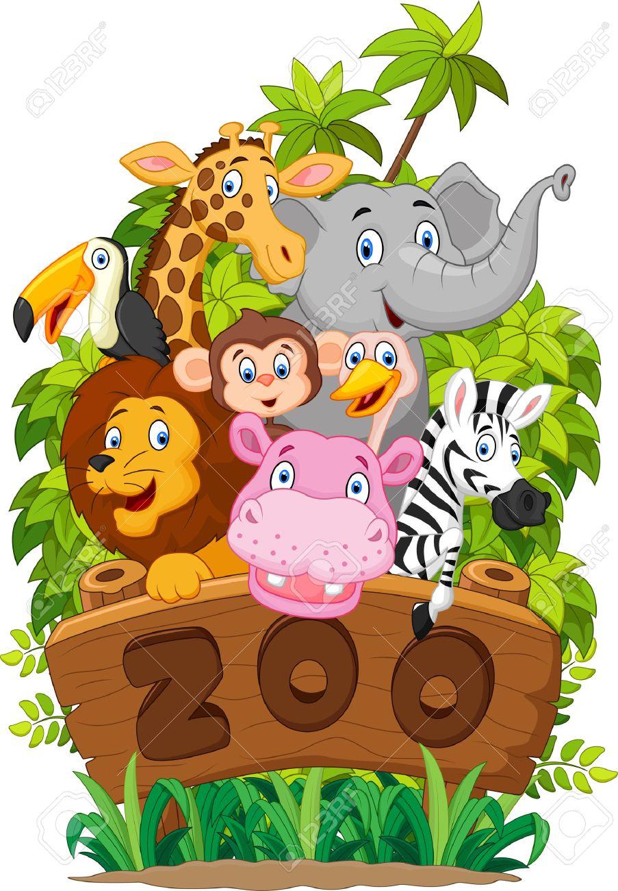 hight resolution of collection cartoon dierentuindieren stock illustratie