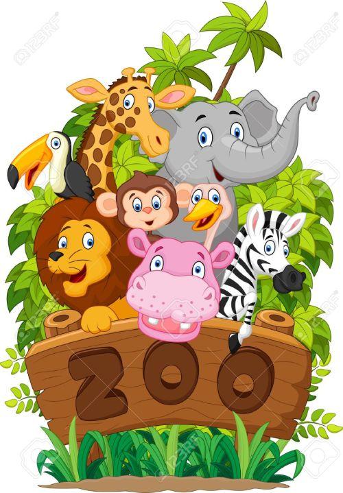 small resolution of collection cartoon dierentuindieren stock illustratie