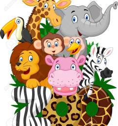 cartoon collection animal of zoo stock vector 42201751 [ 1089 x 1300 Pixel ]