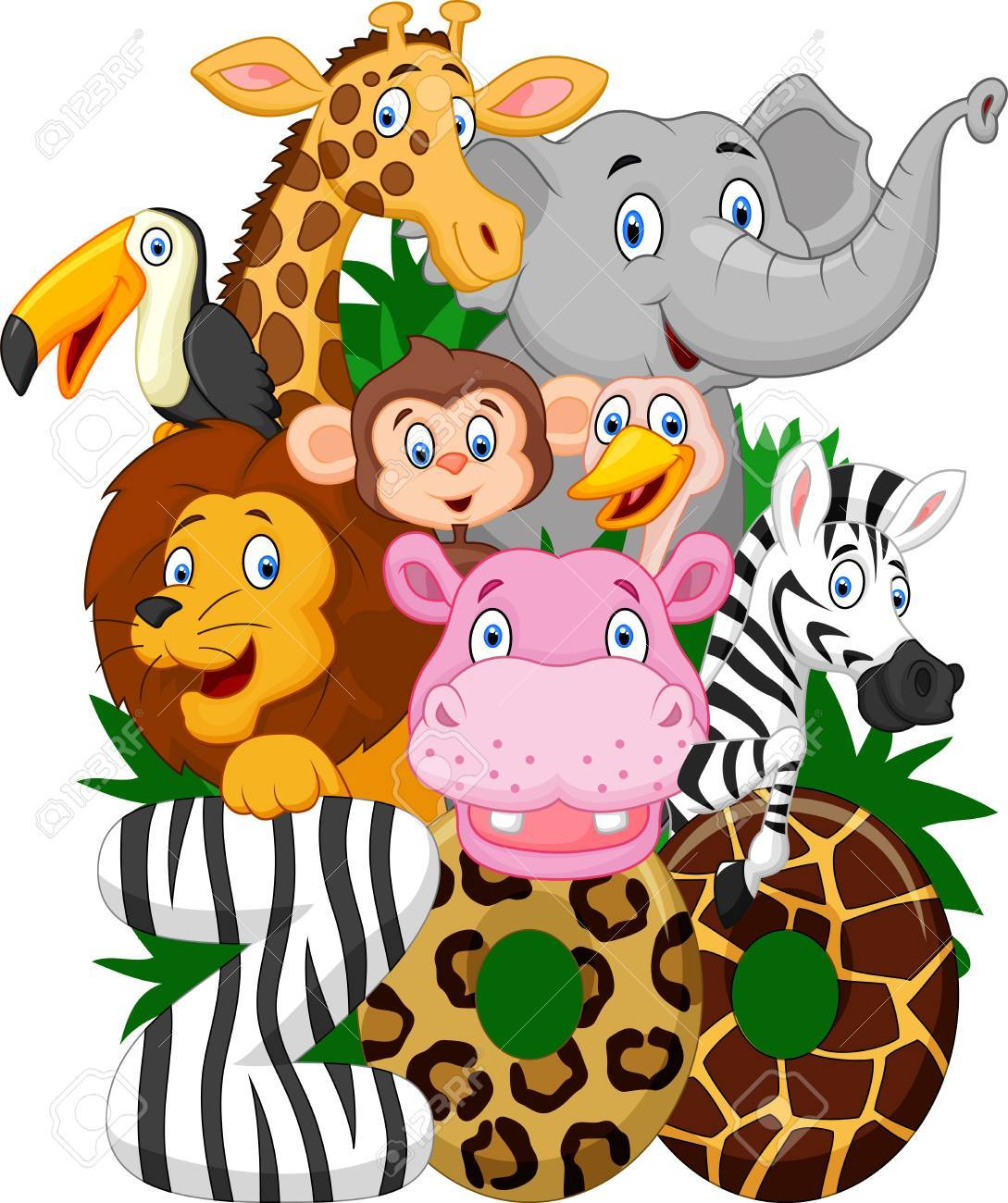 hight resolution of cartoon collection animal of zoo stock vector 42201751