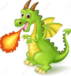 cartoon dragon posing with fire stock vector 45092720 [ 1259 x 1300 Pixel ]