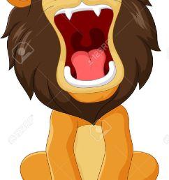vector illustration of cartoon happy lion roaring isolated on white background illustration [ 799 x 1300 Pixel ]