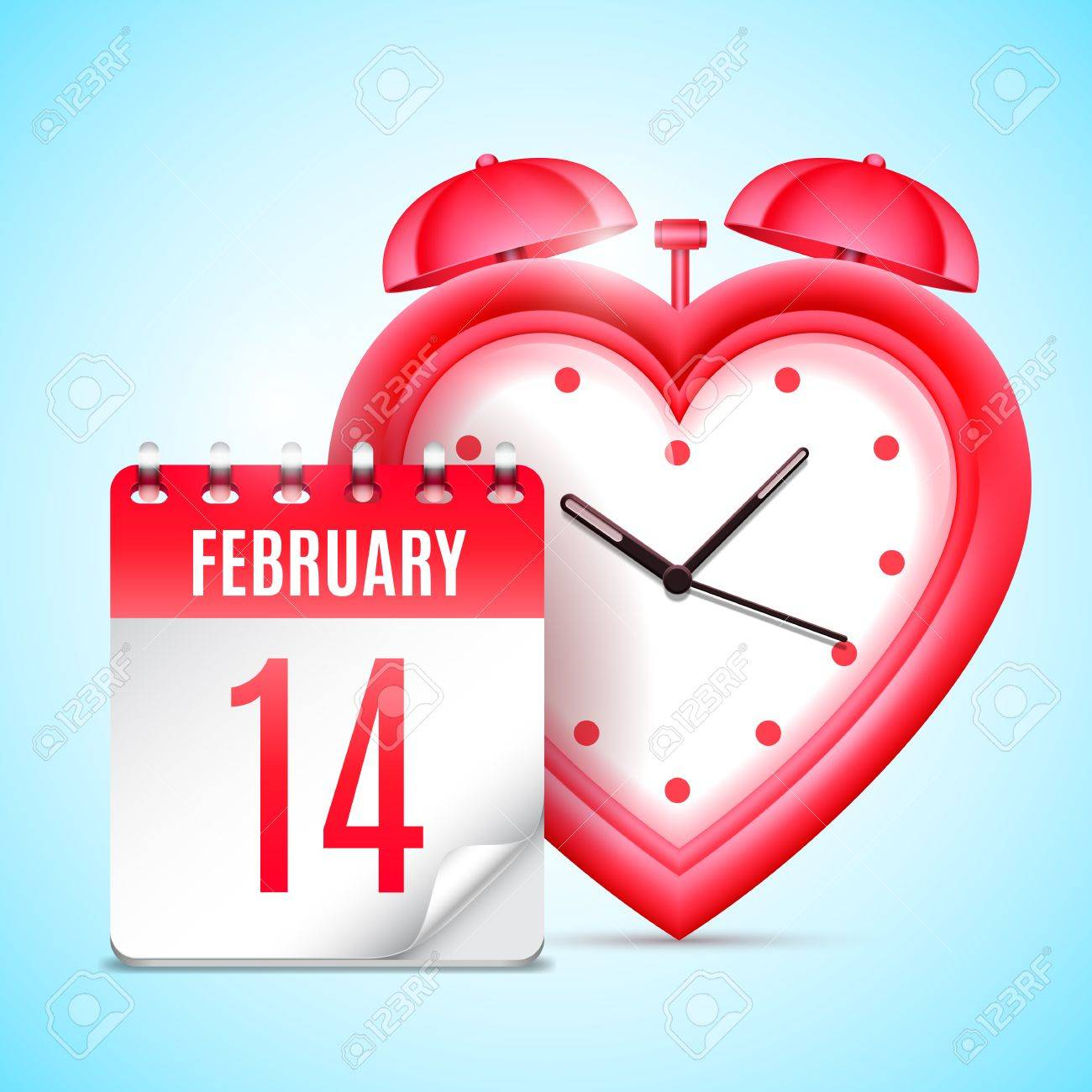 heart shaped clock and