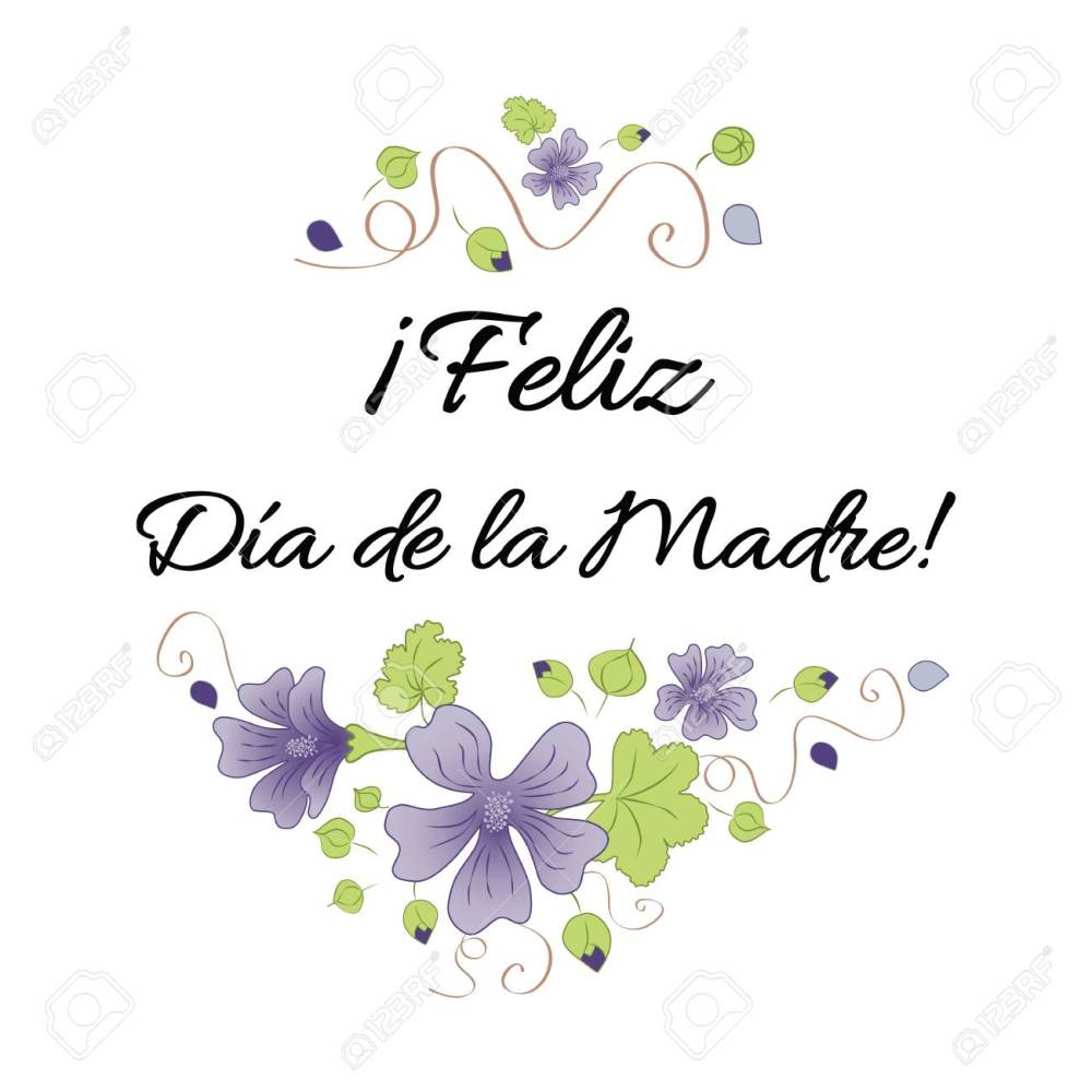 medium resolution of happy mother day banner decorated hand drawn meadow flowers lettering title in spanish stock vector