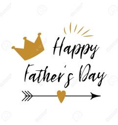 fathers day banner design with lettering crown arrow heart in golden colors  [ 1300 x 1300 Pixel ]