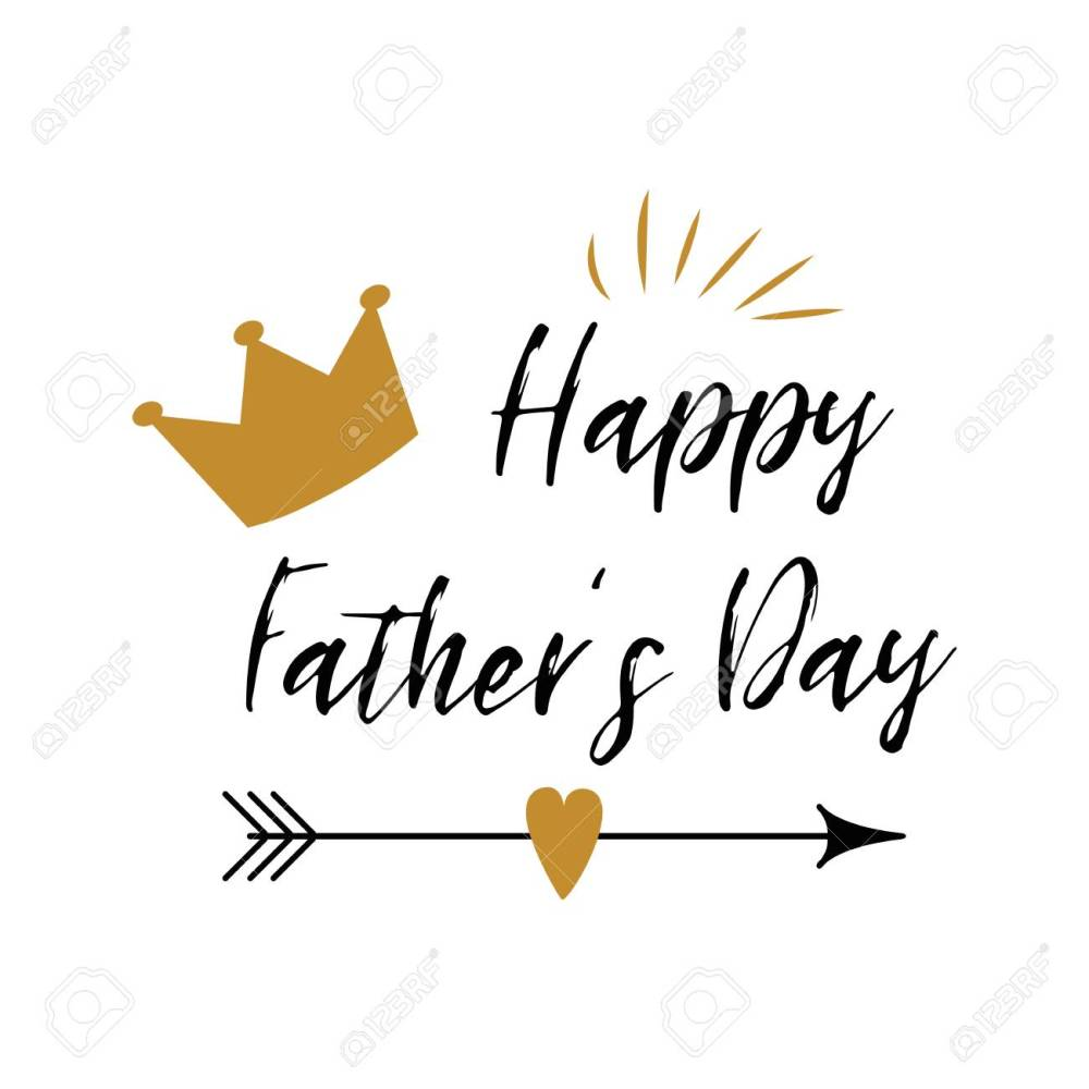 medium resolution of fathers day banner design with lettering crown arrow heart in golden colors