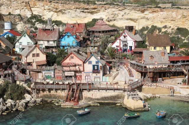Popeye Village, Also Known As Sweethaven Village - A Film Set,.. Stock  Photo, Picture And Royalty Free Image. Image 84304556.