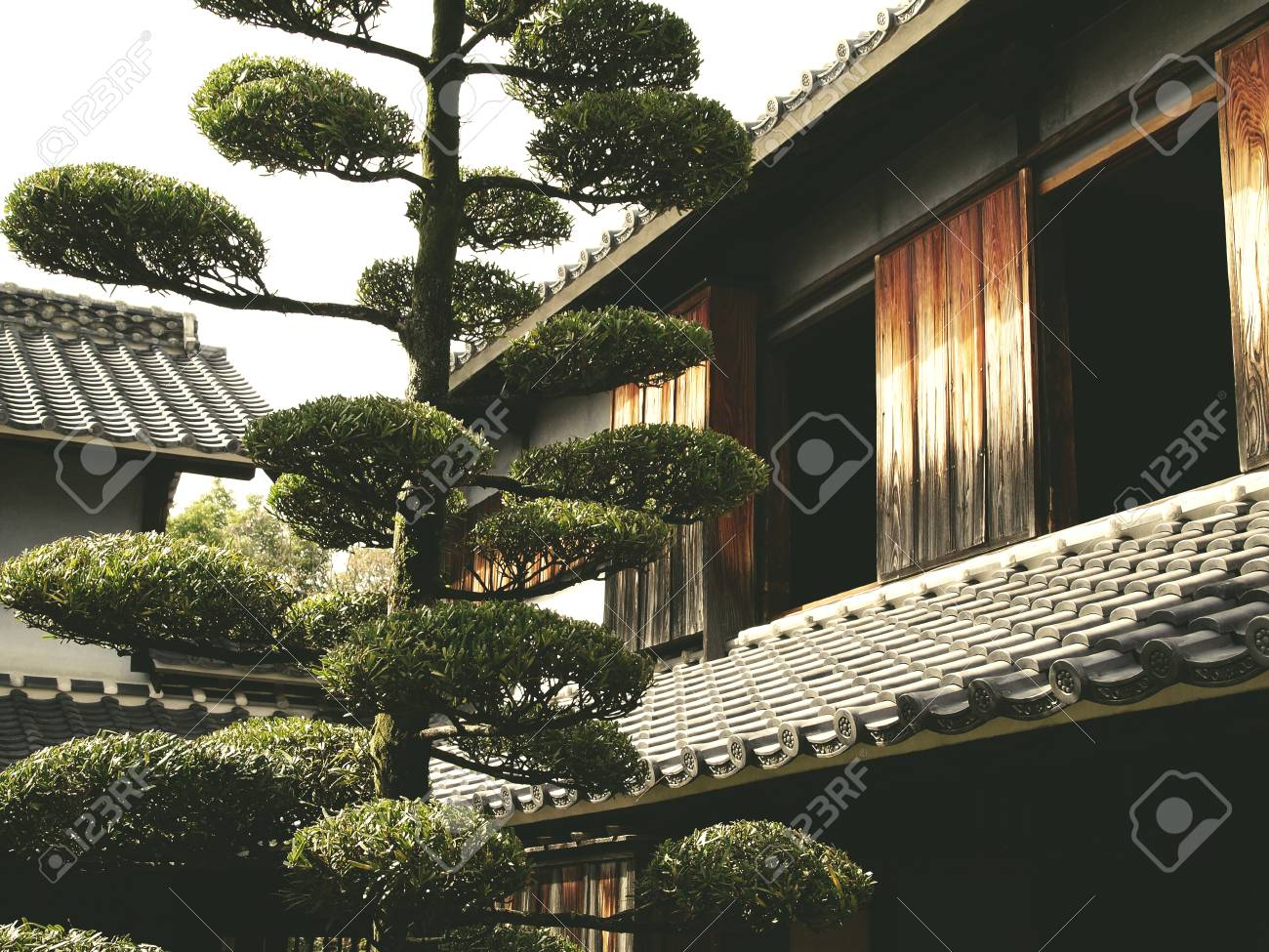 old japanese housing in