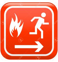 emergency fire safety sign stock vector 5503928 [ 1295 x 1300 Pixel ]