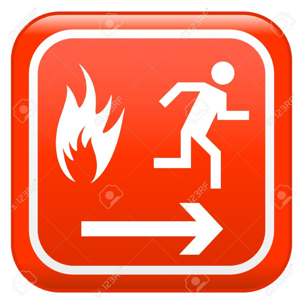 medium resolution of emergency fire safety sign stock vector 5503928