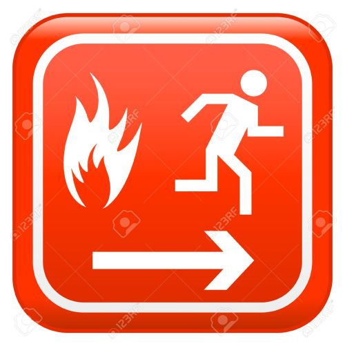 small resolution of emergency fire safety sign stock vector 5503928