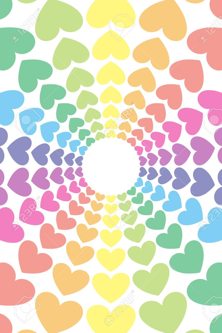 Happy Bright Wallpaper : happy, bright, wallpaper, Background, Material, Wallpaper,, Heart, Pattern,, Heart-shaped,, Central.., Royalty, Cliparts,, Vectors,, Stock, Illustration., Image, 78327864.