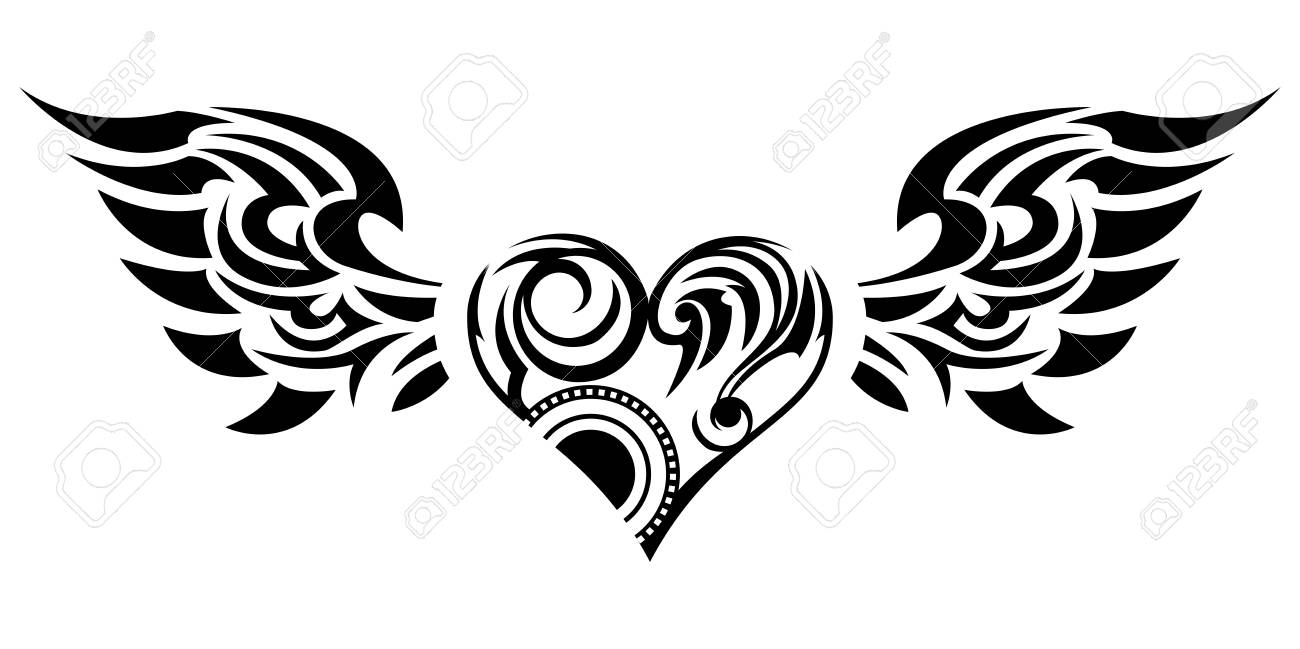 tribal tribal sticker heart