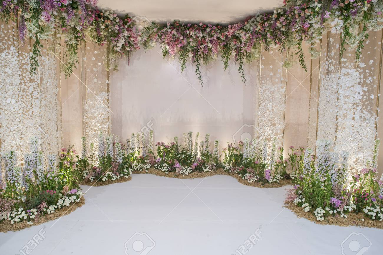 wedding backdrop with flower