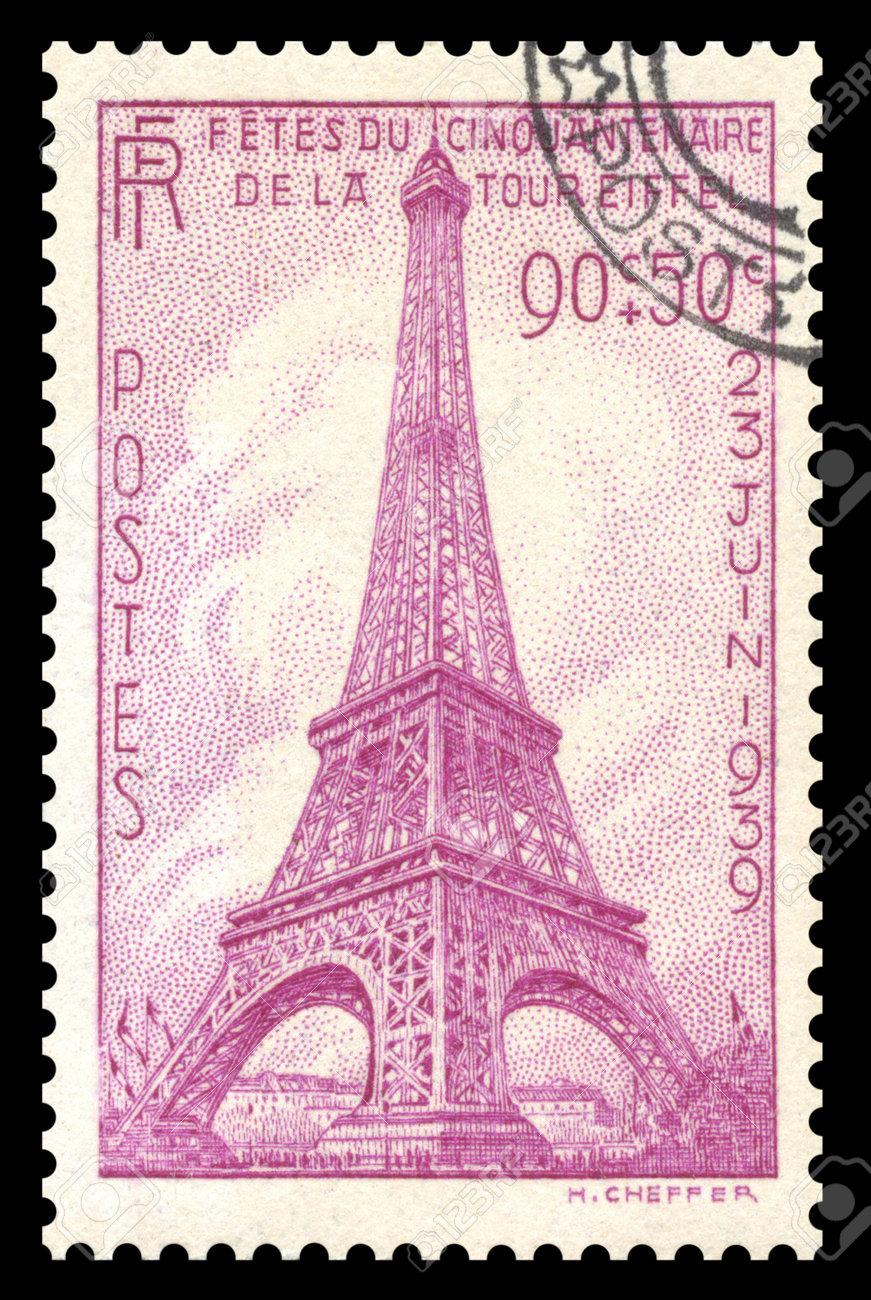 vintage 1939 france postage