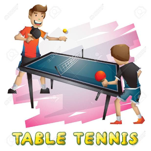 Cartoon Vector Table Tennis Sport With Separated Layers For Game And Animation Design Asset