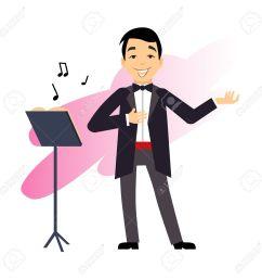 male opera singer vector illustration stock vector 41655232 [ 1300 x 1300 Pixel ]